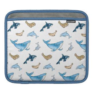 Sea mammals pattern iPad sleeve