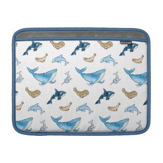 Sea mammals pattern MacBook sleeve