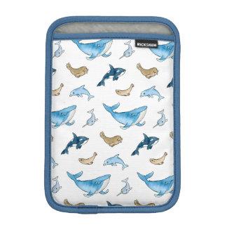 Sea mammals pattern sleeve for iPad mini