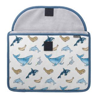 Sea mammals pattern sleeve for MacBook pro