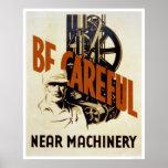 Sea maquinaria cercana cuidadosa WPA 1939 Impresiones