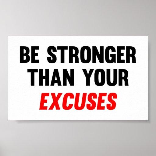 Sea más fuertes que sus excusas poster
