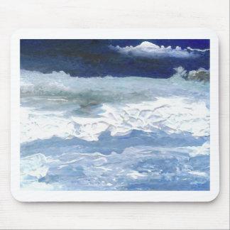 Sea Meeting Rocks Ocean Waves Art Gifts Mousepad