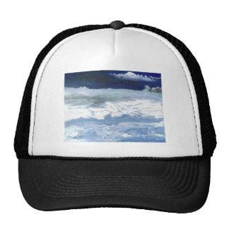 Sea Meeting Rocks Ocean Waves Art Gifts Trucker Hat