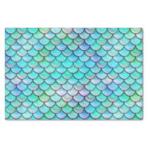 sea mermaid scale pattern tissue paper