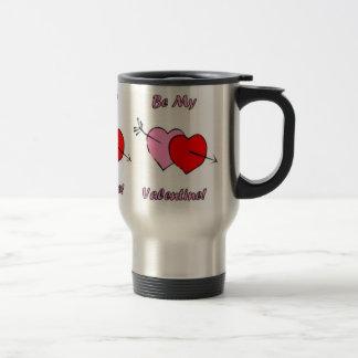 Sea mi amante del café de la tarjeta del día de Sa Taza