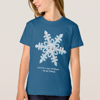 Sea mi amigo - copo de nieve playera