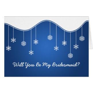 Sea mi azul de la decoración del copo de nieve de  tarjeta