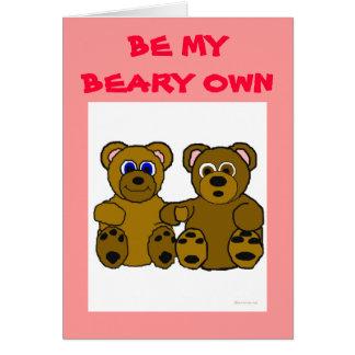 Sea mi Beary poseen la tarjeta del el día de San