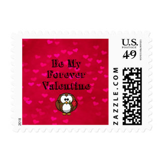Sea mi búho de la tarjeta del día de San Valentín Estampillas