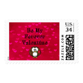 Sea mi búho de la tarjeta del día de San Valentín Sello Postal