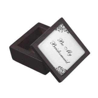Sea mi caja de regalo de la dama de honor caja de recuerdo de calidad