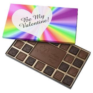 Sea mi chocolate del arco iris de la tarjeta del caja de bombones variados con 45 piezas