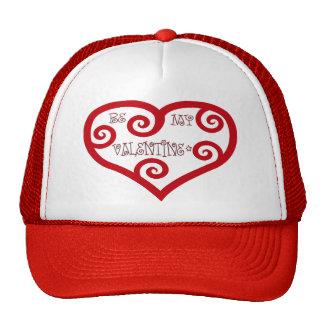 Sea mi corazón de la tarjeta del día de San Valent Gorros Bordados