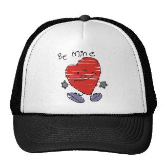 Sea mi corazón de la tarjeta del día de San Valent Gorros