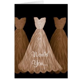 Sea mi dama de honor - invitación de boda de los tarjeta de felicitación