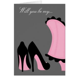Sea mi dama de honor o criada de la tarjeta del ho