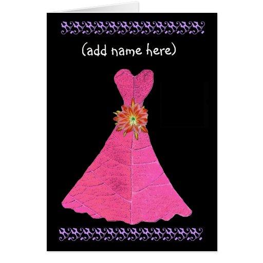 Sea mi invitación de encargo del banquete de boda  tarjeta de felicitación