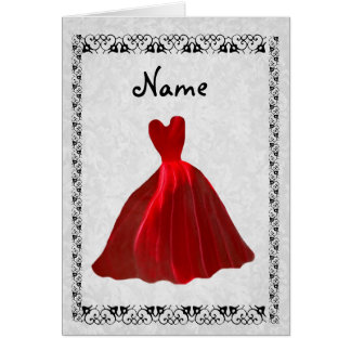 Sea mi invitación de la dama de honor - vestido tarjeta pequeña