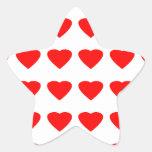 Sea mi jGibney de los corazones 36Red Transp de la Pegatina En Forma De Estrella