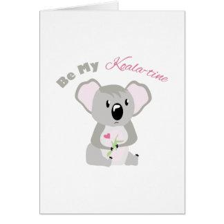 Sea mi koala - tiempo tarjeta de felicitación