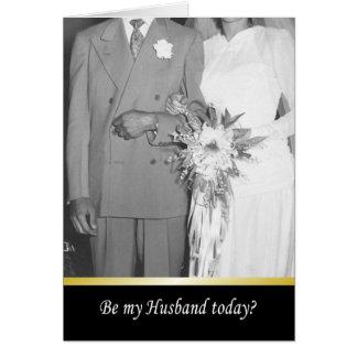 ¿Sea mi marido hoy - DIVERTIDO Felicitación