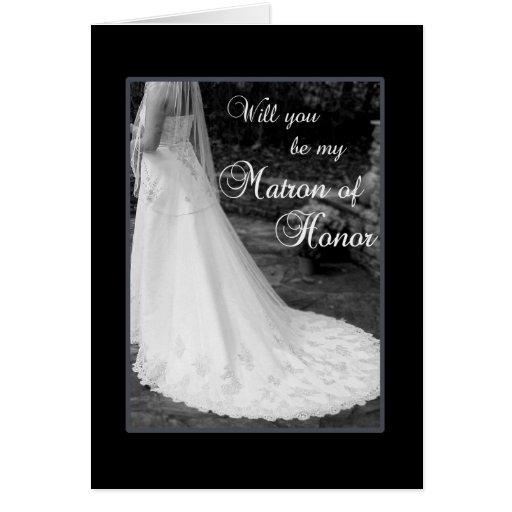 Sea mi matrona del honor felicitaciones