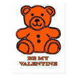 Sea mi naranja del oso de la tarjeta del día de postal