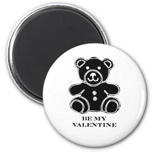 Sea mi negro 2 del oso de la tarjeta del día de Sa Iman De Frigorífico