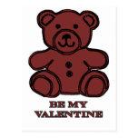 Sea mi oso Brown de la tarjeta del día de San Postal