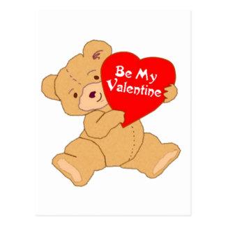 Sea mi oso de la tarjeta del día de San Valentín Tarjeta Postal