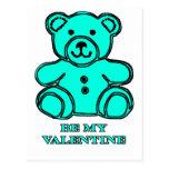 Sea mi oso de la tarjeta del día de San Valentín Tarjetas Postales