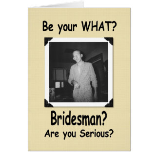 ¿Sea mi padrino de boda? Tarjeta De Felicitación