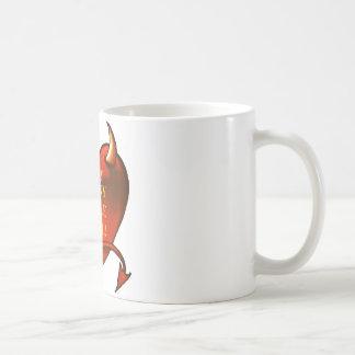 Sea mi pequeño diablo córneo tazas de café