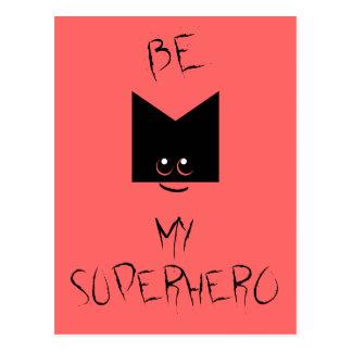 Sea mi postal del arte pop del super héroe (el