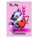 Sea mi tarjeta de la tarjeta del día de San Valent