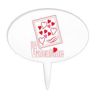 Sea mi tarjeta del día de San Valentín Decoración De Tarta