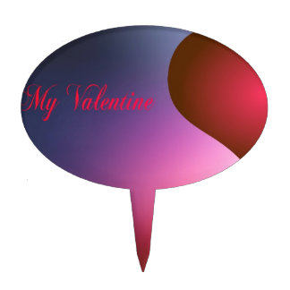 Sea mi tarjeta del día de San Valentín Figuras De Tarta