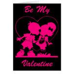 Sea mi tarjeta del día de San Valentín - beso en n