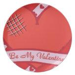 Sea mi tarjeta del día de San Valentín con el cora Plato