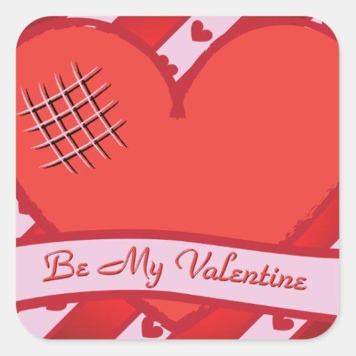 Sea mi tarjeta del día de San Valentín con el Pegatina Cuadrada
