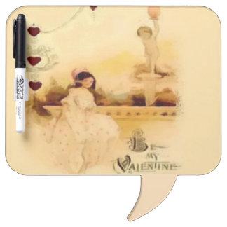 Sea mi tarjeta del día de San Valentín del vintage Pizarras Blancas