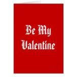 Sea mi tarjeta del día de San Valentín. Día de San