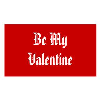 Sea mi tarjeta del día de San Valentín. Día de San Tarjetas De Visita
