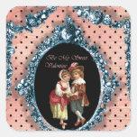 Sea mi tarjeta del día de San Valentín dulce Pegatina Cuadrada