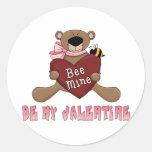 Sea mi tarjeta del día de San Valentín Etiqueta
