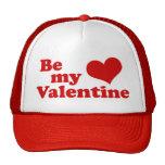 Sea mi tarjeta del día de San Valentín Gorras
