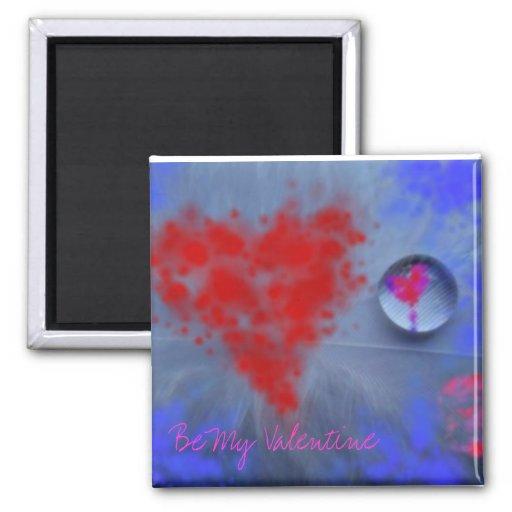 Sea mi tarjeta del día de San Valentín Imán Cuadrado