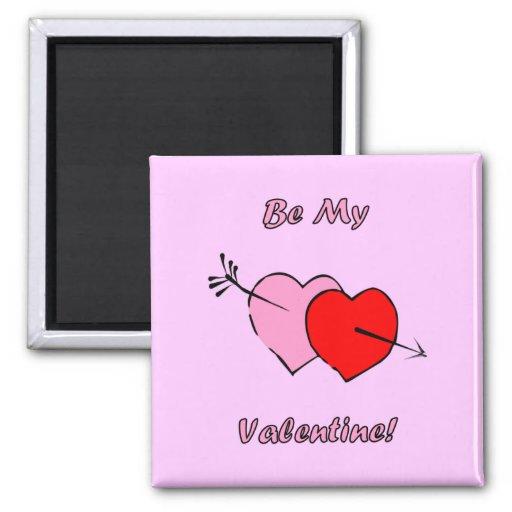 Sea mi tarjeta del día de San Valentín Iman Para Frigorífico