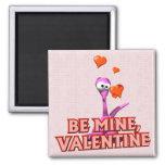 Sea mi tarjeta del día de San Valentín Imanes